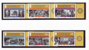Isle of Man Sc 1102-7 2005 Rotary stamp set mint NH
