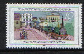 Germany  Berlin 1988  MNH  Berlin-Potsdam railway