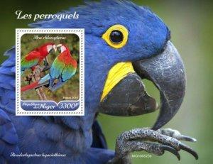 Niger - 2019 Parrots on Stamps - Stamp Souvenir Sheet - NIG190523b