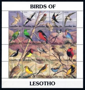 [94954] Lesotho 1992 Birds Vögel Oiseaux Sheet MNH