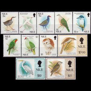 NIUE 1992 - Scott# 604-14 Birds Set of 11 NH