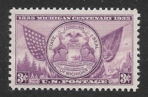 Doyle's_Stamps: Near Superb 1935 NH Purple 3c Michigan State Seal