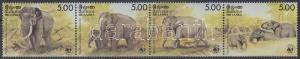 Sri Lanka stamp WWF Elephant stripe of 4 MNH 1986 Mi 753-756 WS163048