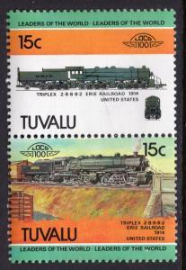 Tuvalu 237 Trains MNH VF