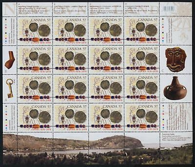 Canada 2403 Sheet MNH Cupids, Map, Coins