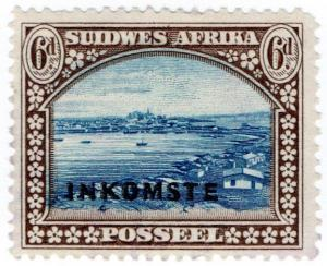 (I.B) South-West Africa Revenue : Duty Stamp 6d (1940)