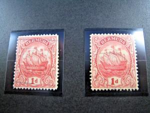 BERMUDA SCOTT #83 & 83a - 1926/8  VF/Used     (apsB15)