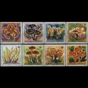 RWANDA 1980 - Scott# 975-82 Fungi Set of 8 LH