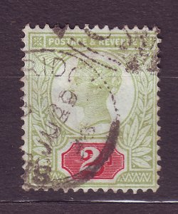 J23507 JLstamps 1887-92 great britain used #113 queen