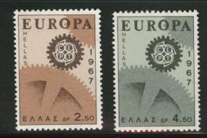 GREECE Scott 891-92 MH*  Europa 1967  stamp set