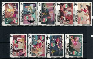 Dominica #679-88* NH CV $11.25 Disney/Christmas set complete with Souvenir sheet