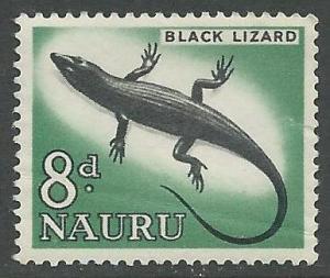 Nauru # 52   Black Lizard     8d.  (1)  Mint NH