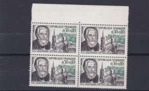 FRANCE  1966  S G  1702   30C + 10   VALUE  BLOCK OF 4  MNH  NO F153