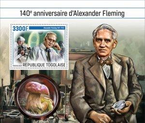 TOGO - 2021 - Alexander Fleming - Perf Souv Sheet - Mint Never Hinged