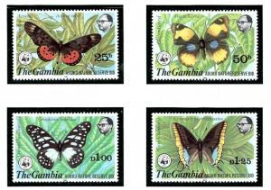 Gambia 404-07 MNH 1980 Butterflies
