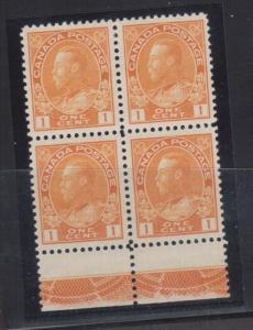 Canada #105i Extra Fine Mint Lathework C Block