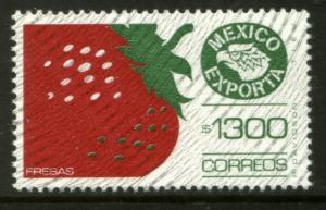 MEXICO Exporta 1592 $1300P Strawberries w/burel Paper 10 MNH