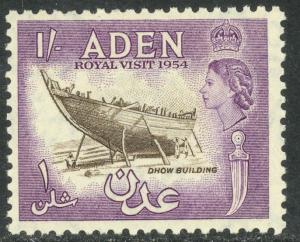 ADEN 1954 Complete QE2 Royal Visit Issue Sc 62 MNH