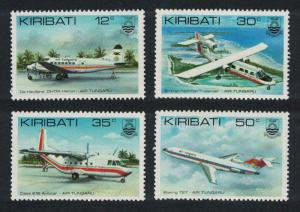Kiribati Aircrafts Inauguration of Tungaru line 4v SG#179-182 SC#400-403