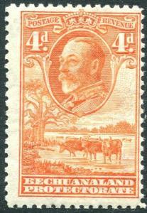 BECHUANALAND-1932  4d Orange Sg 103 MOUNTED MINT V31270