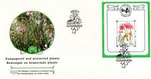 Ciskei - 1988 Philatelic Foundation Protected Flowers MS FDC