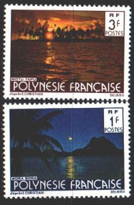 French polynesia. 1979. 2781À-82À from the series. Tourism, islands. MNH.
