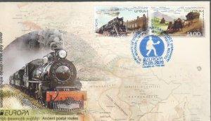 CEPT EUROPA ARTSAKH KARABAKH ARMENIA 2020 ANCIENT POSTAL ROUTES FDC R2021664bm