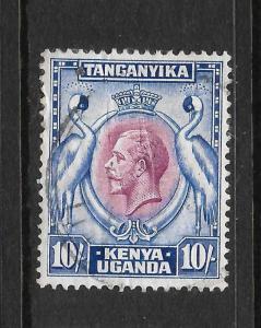 KENYA & UGANDA TANGANYIKA  1935-37  10/-    KGV PICTORIAL   FU    SG 122
