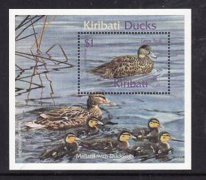 Kiribati-Sc#778-Unused NH sheet-Birds-Ducks-2001-
