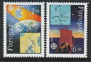 1991 Faroe Islands - Sc 220-1 - MNH VF - 2 single - Europa