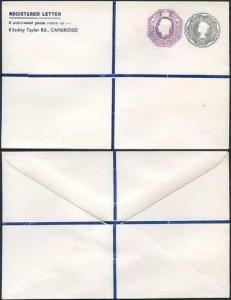 KGVI and QEII 6d and 1/9 Compound PRIVATE Registered Envelopes RSP10 Size N