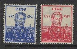 IRELAND SG168/9 1957 WILLIAM BROWN HVY MTD MINT
