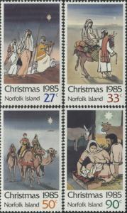 Norfolk Island 1985 SG374-377 Christmas set MNH