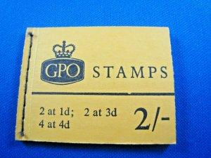 GREAT BRITAIN 1968 COMPLETE MNH STAMP BOOKLET -  2/     (kbgbbk1)