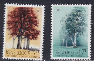 Belgium MNH 737-8 Beech Trees Nature Conservation 1970