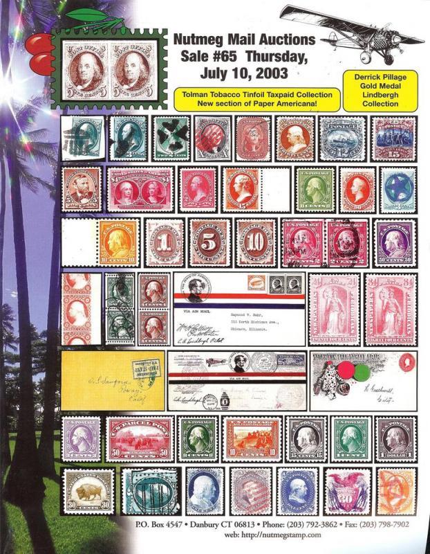 Nutmeg Stamp Sales - The Tolman Tobacco Tinfoil Taxpaid C...