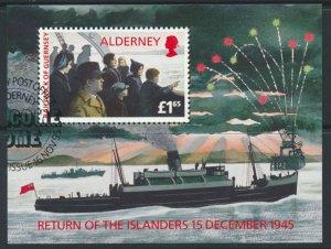Alderney  SG MSA84  SC# 90  Returning Islanders Used First Day Cancel - as pe...
