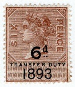 (I.B) QV Revenue : Transfer Duty 6d (1893)