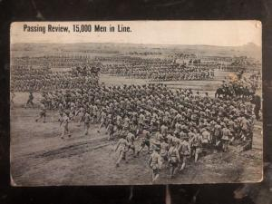 1916 Mission TX USA RPPC Postcard Cover Mexico Revolution Passing Review