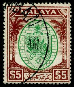 MALAYSIA - Negri Sembilan SG62, $5 green & brown, FINE USED. Cat £95.