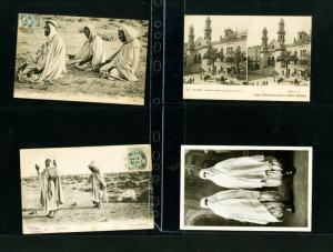 Algeria Cards 25x Picture post cards Early Arab Photos & Stamps