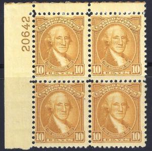 U.S. 715  F+VF NH PBlk/4 (110517)
