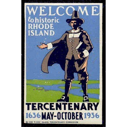 US 1936 Rhode Island Tercentary Poster Stamp
