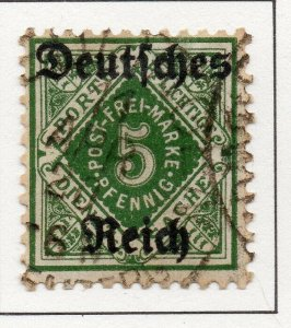 Germany 1920 Early Issue Fine Used 5pf. Optd NW-100741