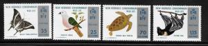 New Hebrides British 1974 Nature Conservation Dove Turtle Sc 183-186 MNH A295