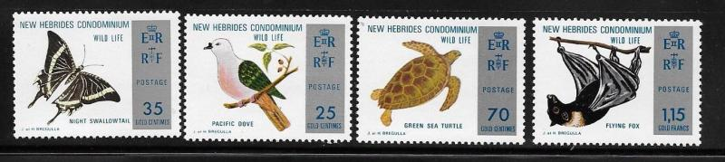 New Hebrides British 1974 Nature Conservation Dove Turtle Flying Fox MNH A295