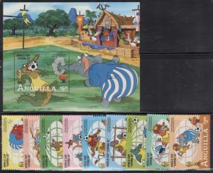 Anguilla 492-501 Disney Mint NH (DL1)