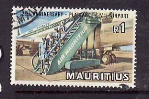 Mauritius-Sc#387- id6-used 1R-Planes-Airport-1971-
