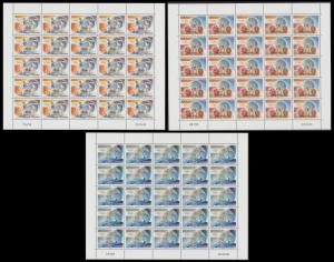 New Caledonia Olympic Games 3 sheetlets of 25v each SG#1449 MI#1466-1468