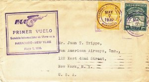 1930, 1st Flt., Maracaibo, Venezuela to New York City, NY, See Remark (32619)